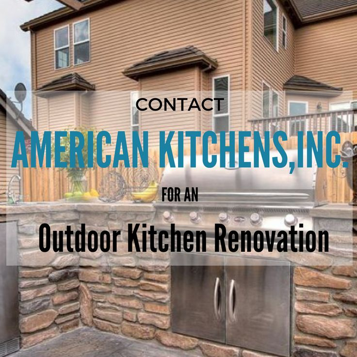 We also renovate outdoor kitchens! American Kitchens, Inc. in Orlando and Tampa Florida can help with any kitchen remodeling job, big or small! Contact us today! Americankitchensfl.com