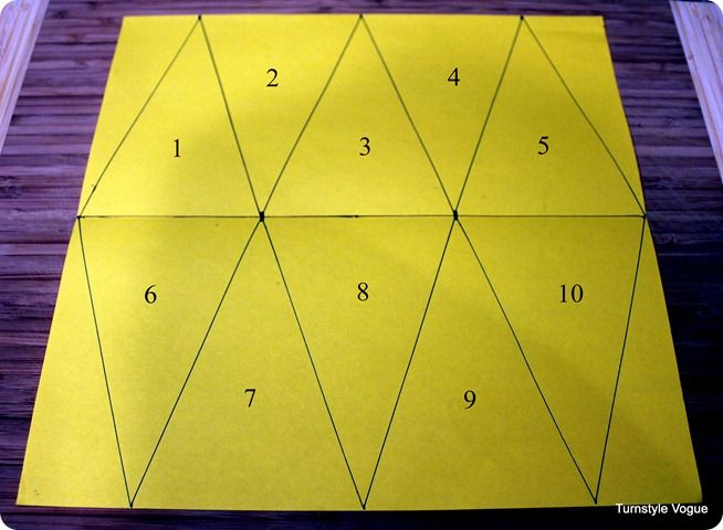 how to cut triangles for bunting or pennants