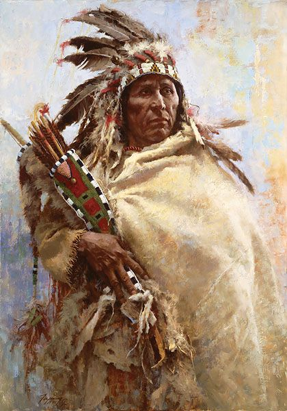 Crow Indian - Leader of Men - artist Howard Terpning