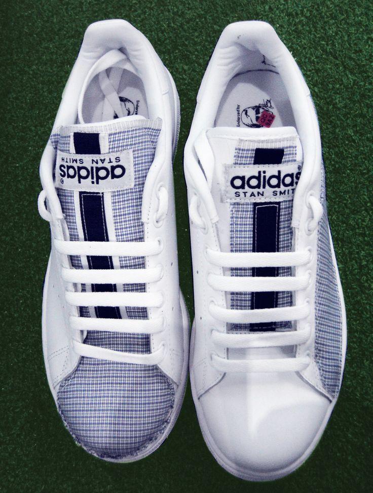 Stan Smith + tessuto camiceria \\ Stan Smith + shirt fabric \\ #stansmith #adidas #shirt #custom #unique #handmade #sartorial #sneaker #exclusive #telefacciocomevuoitu