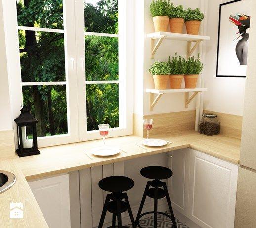 metamorfoza mieszkania 50 m2 w kamienicy - Mała kuchnia, styl skandynawski - zdjęcie od Grafika i Projekt architektura wnętrz