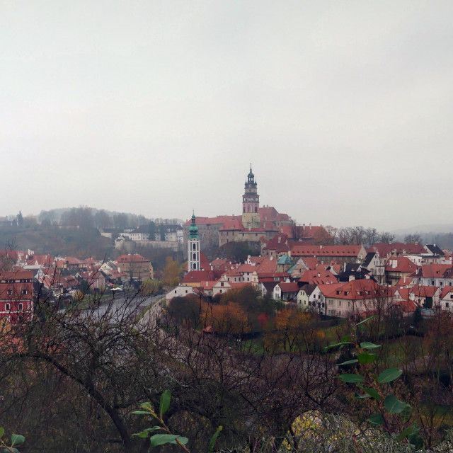 'Cesky Krumlov winter panorama' on Picfair.com