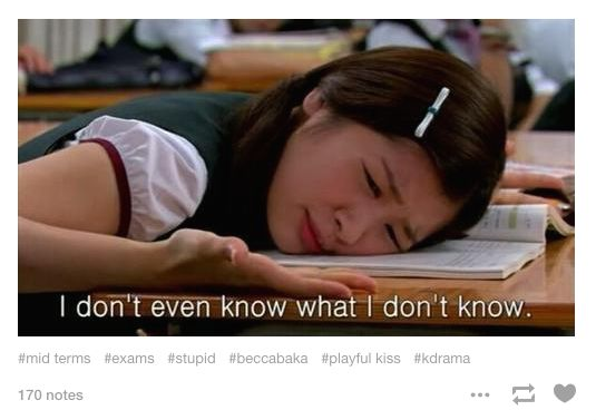 """""""Did we actually learn any of this stuff?"""" 