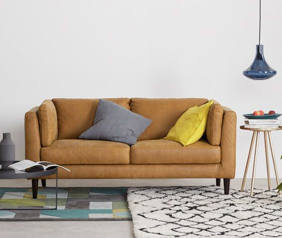 10 best contemporary leather sofas for small spaces | Tiny ...