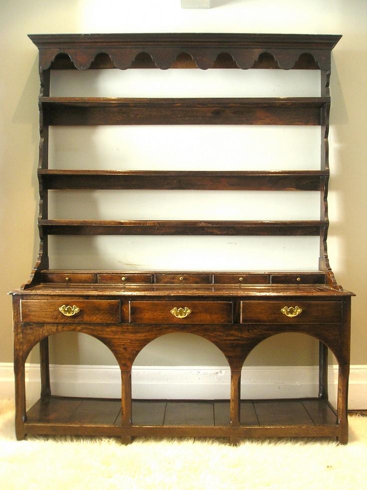 17th Century Welsh Dresser Made Of Elm