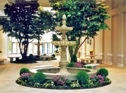 landscaping around fountains indoor landscaping1