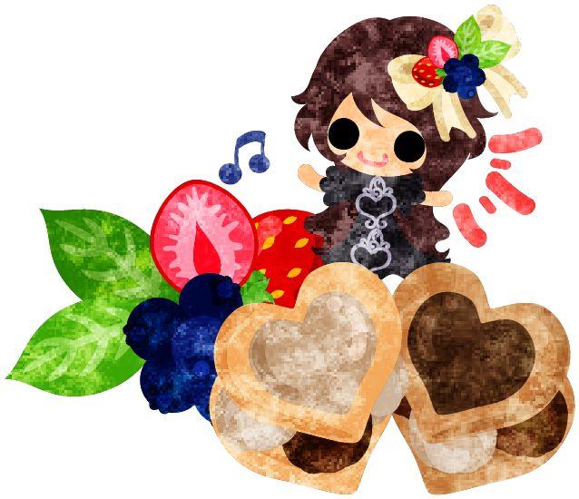 バレンタインにも使えるフリーのイラスト素材可愛い女の子とチョコレートのクッキーサンド  Free Illustration which is usable to Valentine A cute little girl and the chocolate cookie sandwiches   http://ift.tt/2hRCfu5