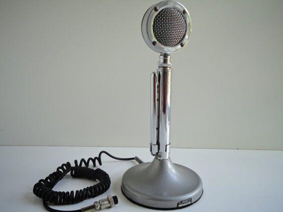 The Astatic Silver Eagle Ham Cb Radio Microphone Mic