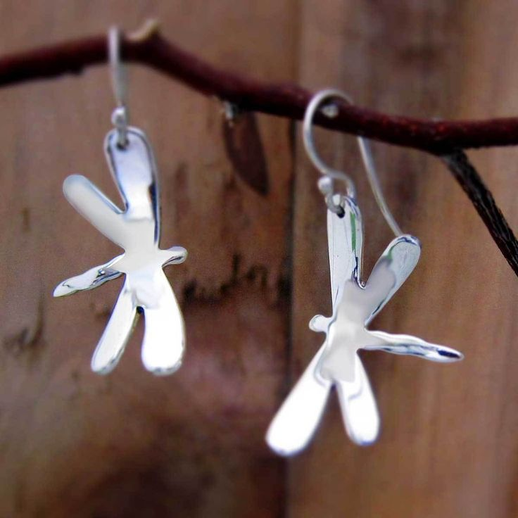 Handmade Silver Jewelry   Emilio Sotelo Jewelry   Dragonfly Silver Earrings - French Wire (50.143.2)