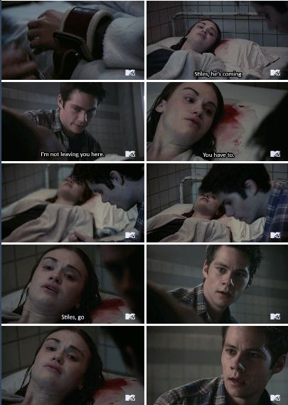 "Teen Wolf Season 5B Episode 15 ""Amplification"" Lydia Martin and Stiles Stilinski at Eichen House"