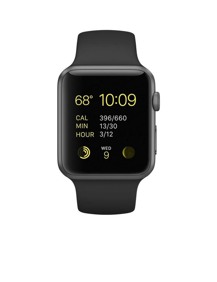 Apple 42mm Smart Watch - Space Grey Aluminum Case/Black Band / Fast Shipping #Apple