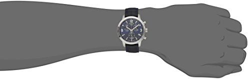 Tissot Men's TIST0554171604700 200 Analog Display Swiss Quartz Blue Watch  Diving watch, Precision Swiss quartz movement, Chronograph featuring 30-minute, 1/20-second and continuous seconds subdials, Polished silver-tone hands with luminous accents, Polished silver-tone chronograph sweep seconds, Polished silver-tone hands mark subdials, Applied luminescent polished silver-tone Arabic numbers mark twelve, three and nine o'clock, Applied polished silver-tone baton markers, Silver-tone..