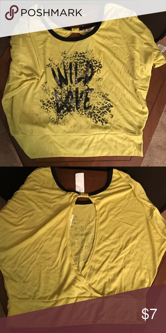 Women's Wild Love DOTS Brand Lime Green Shirt L Brand new with tags Dots Tops Crop Tops