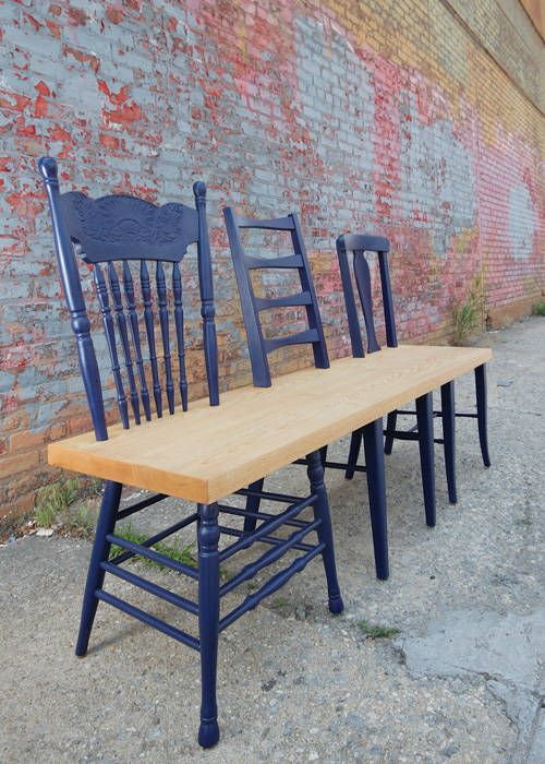 bluebench 5 Green Avenue bench collection in furniture  with Upcycled Furniture Chair Bench