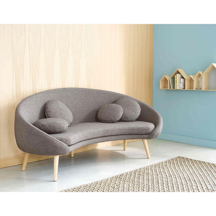 3-Sitzer-Sofa mit hellgrau ... - Willy