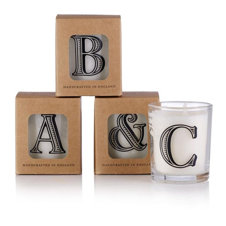 Alphabet Votive Candle | Candles & Diffusers | Oliver Bonas