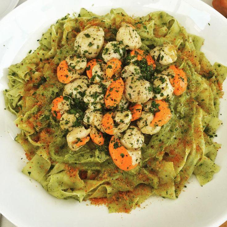Pasta with Sea Scallops & Cream of Zucchini