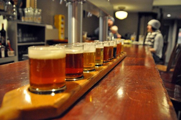 Portsmouth Brewery beer sampler