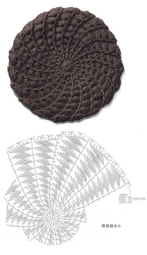 137 best gorros images on Pinterest | Crochet hats, Hat crochet and ...