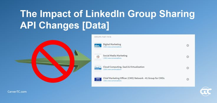The Impact of LinkedIn Group Sharing API Changes - A Lot Less Traffic #CarverTC