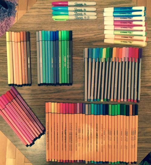 canetas ponta fina coloridas