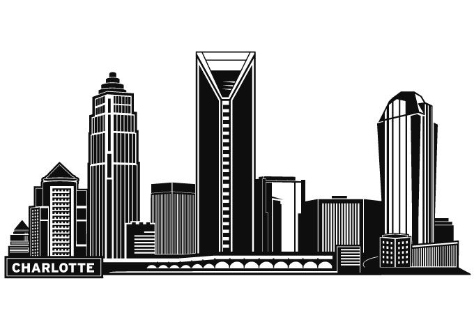 Charlotte Skyline Silhouette Google Search Paint Pens