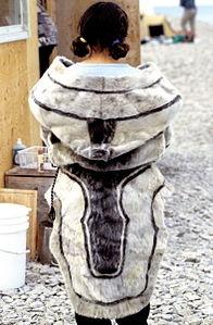 Smilla wears seal-fur