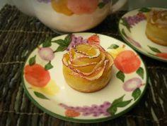 Apfelstrudel Variation. Rose Förmig Apfelstrudel