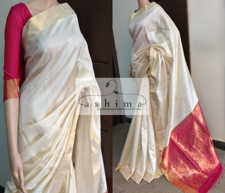 Code:1301182 - Price INR:10500/- , Soft Silk Saree With Woven Border And Pallu.