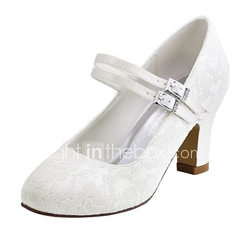 Women's Wedding Shoes Basic Pump Stretch Satin Spring Fall Wedding Party & Evening Crystal Chunky Heel Ivory White 2in-2 3/4in - USD $39.99 ! HOT Product! A hot product at an incredible low price is now on sale! Come check it out along with other items like this. Get great discounts, earn Rewards and much more each time you shop with us!
