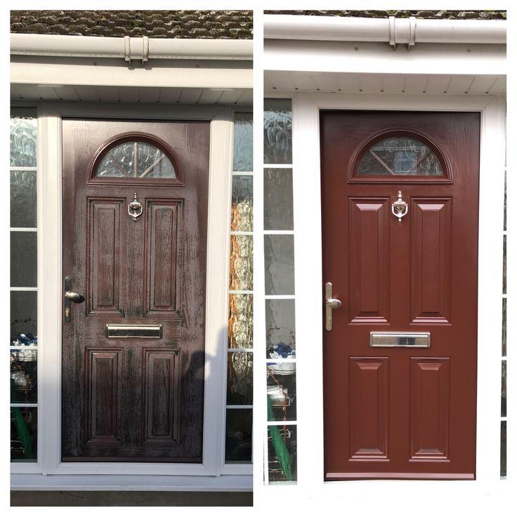 Pvc Wood Look Front Door