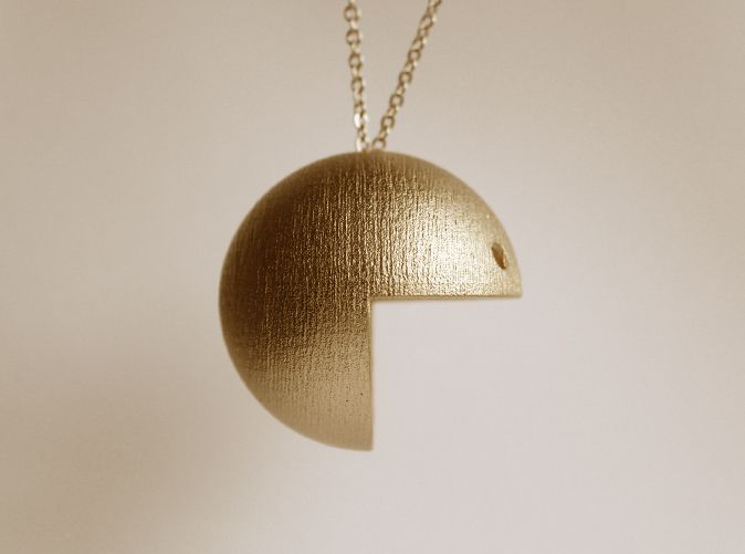 Pac Man Pendant 3d printed Sculptures Pendants