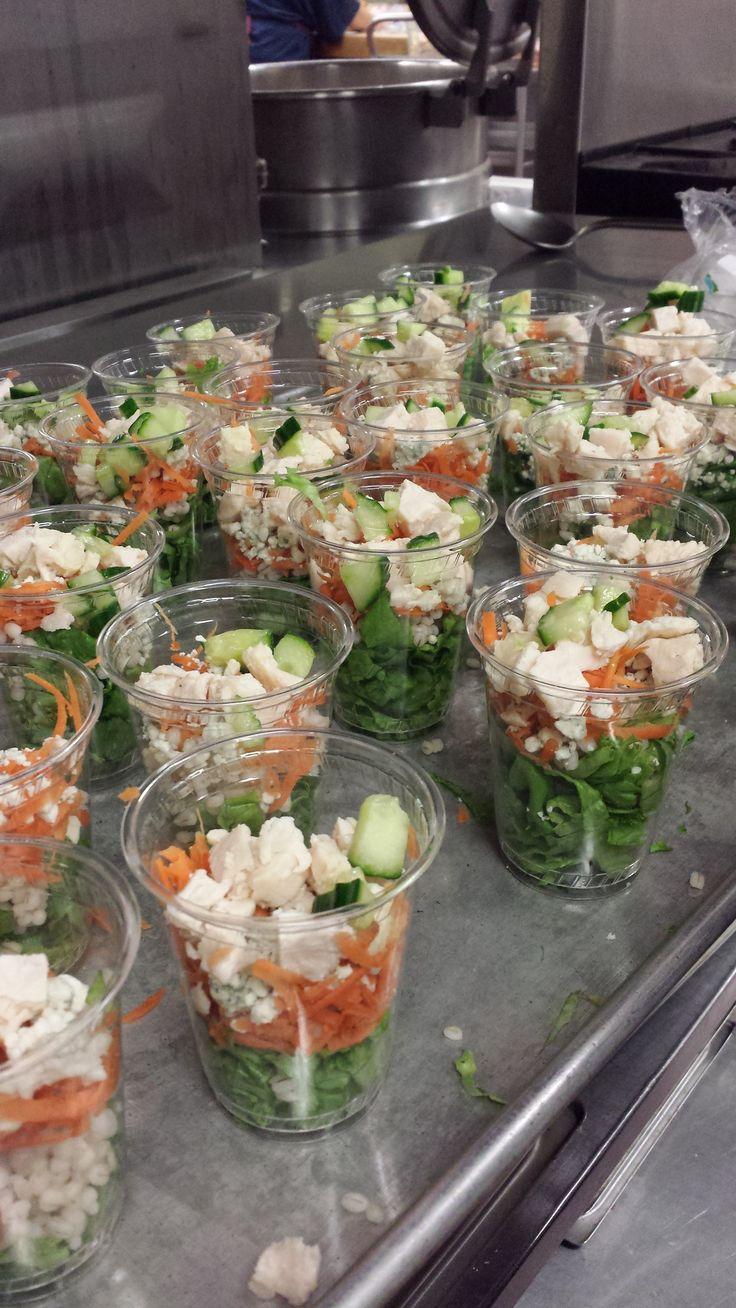 Shaker salads at Mt. Abe High School.