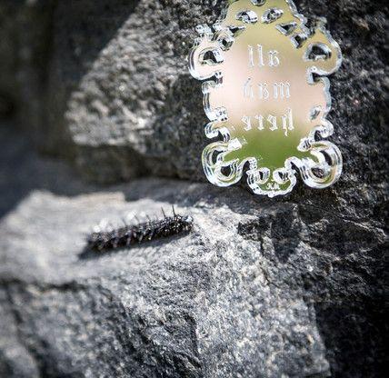 All mad here pendant necklace from Wonderland   KiviMeri Finland