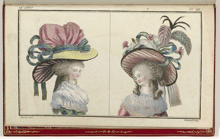 Cabinet des Modes ou les Modes Nouvelles, 1 Novembre 1786, pl. III, A.B. Duhamel, Buisson, 1786