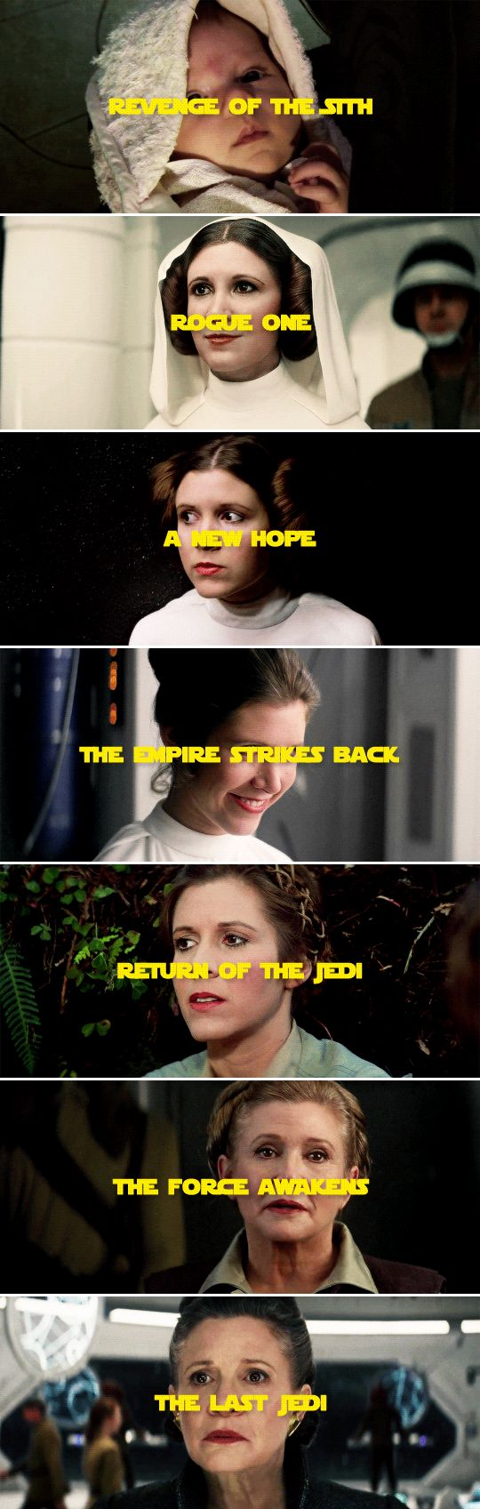 Leia Organa + appearances #starwars