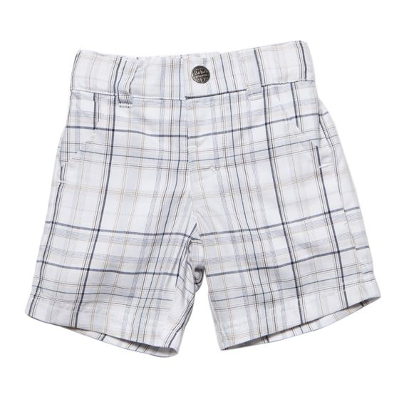 Designer baby boy clothing - Bebe Duke Checked Four Pocket Shorts - $39.95 - Classic, stylish and versatile!  Funky Duke baby boys checked short by Bebe!  Feature duke check and four pockets - dress up or down for the perfect summer outfit! Designer baby boy clothing - Bebe