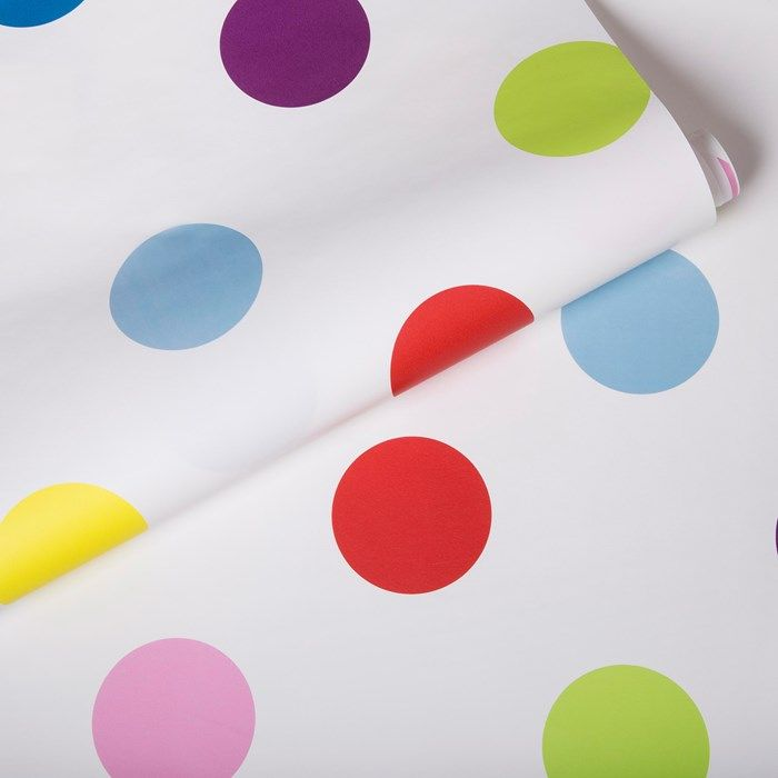 Dotty Multi Bright Wallpaper by Graham and Brown