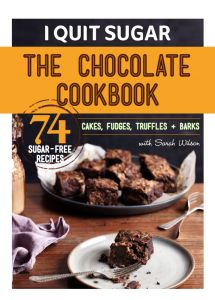 The Chocolate Cookbook from I Quit Sugar features over 74 delicious and healthy sugar-free chocolate recipes. Yummy enough to satisfy any sweet tooth!