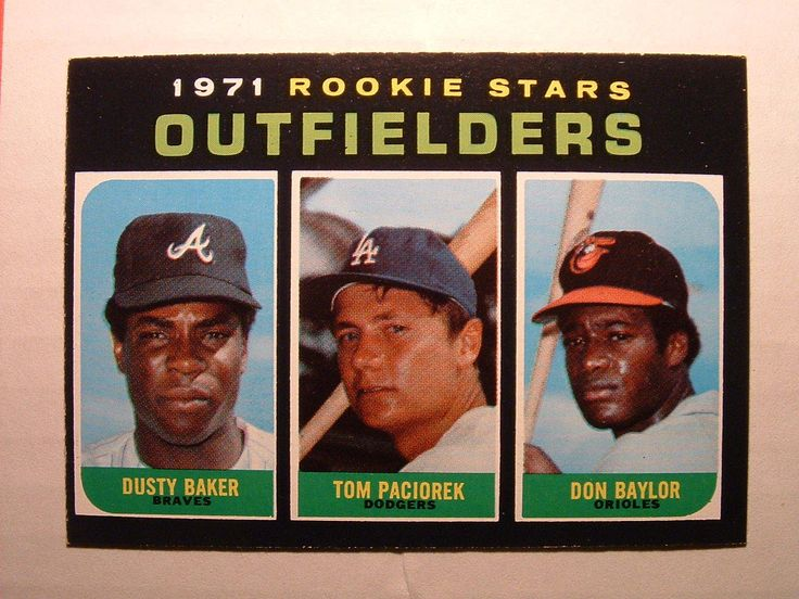 1971 topps baseball 709 rookie outfielders high number