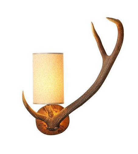 Antler Wall Light Right Handed - £165.00 - Hicks and Hicks