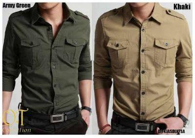 Baju Pria Army 2 Kantong dan Pangkat