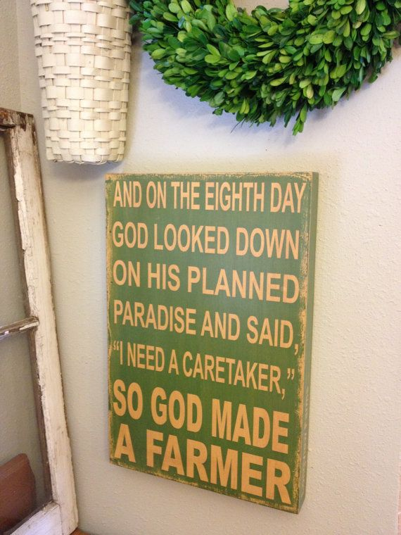 So God Made A Farmer  Paul Harvey Quote  green and by kspeddler, $38.00