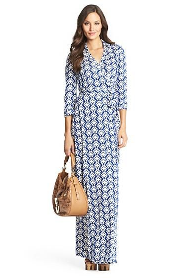 Dvf Spring 2014 Long Maxi Wrap Dress Abigail Silk Jersey Maxi Wrap
