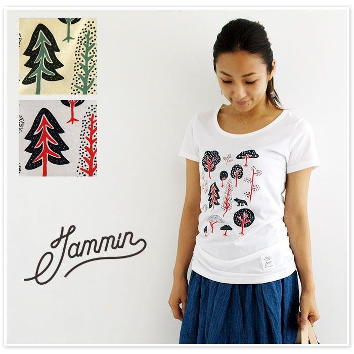 【Jammin ジャミン】FOREST BASIC T-SHIRT /  Uネック ベーシック プリント Tシャツ (forest1)