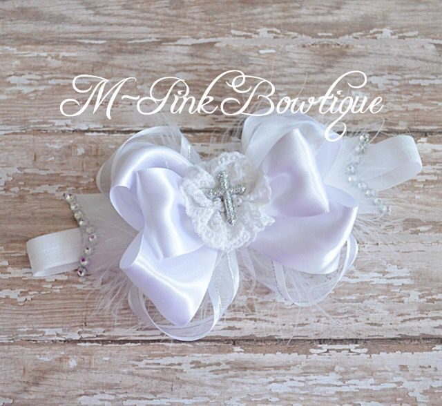 Christening/Baptism headband