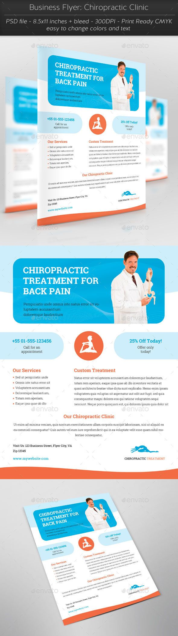 business flyer chiropractic clinic