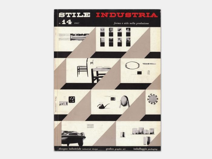 """""""Published as an offshoot of Gio Ponti's legendary Italian Architecture, Furnishing and Art magazine Domus, Stile Industria was Italy's first and only magazine exclusively dedicated to Industrial Design (disegno industriale), Graphic Art (grafica) and Packaging Design (imballagio).""""  - thisisdisplay.com"""