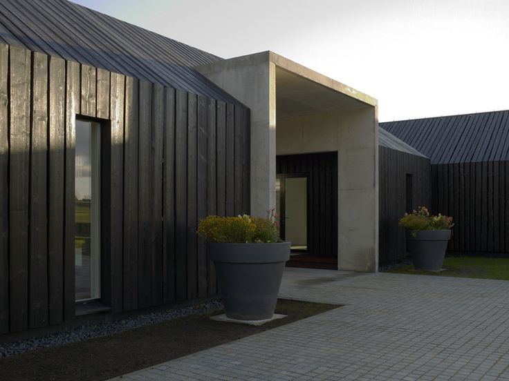 black timber cladding