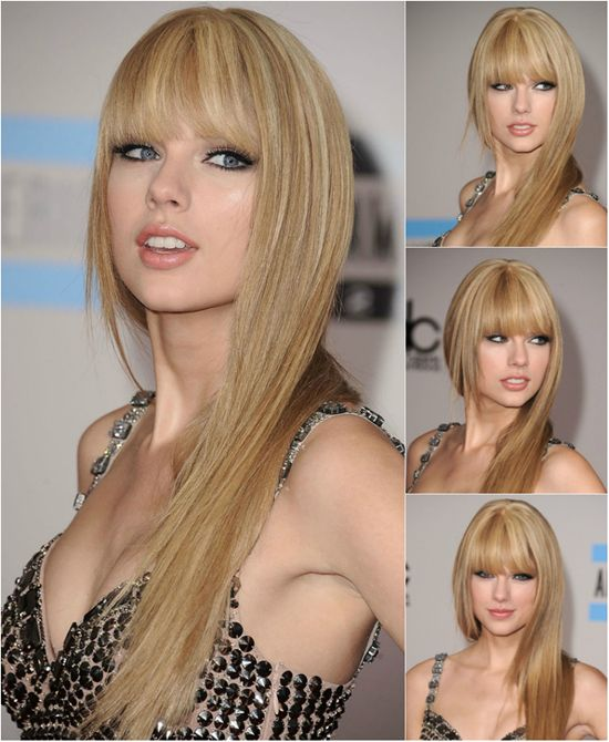 150 best winter hairstyles images on pinterest winter hairstyles taylor swift straight hairstyle with best and cheap blonde human hair extension clip on pmusecretfo Choice Image